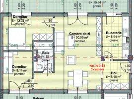 Apartament 3 camere bloc nou Centru