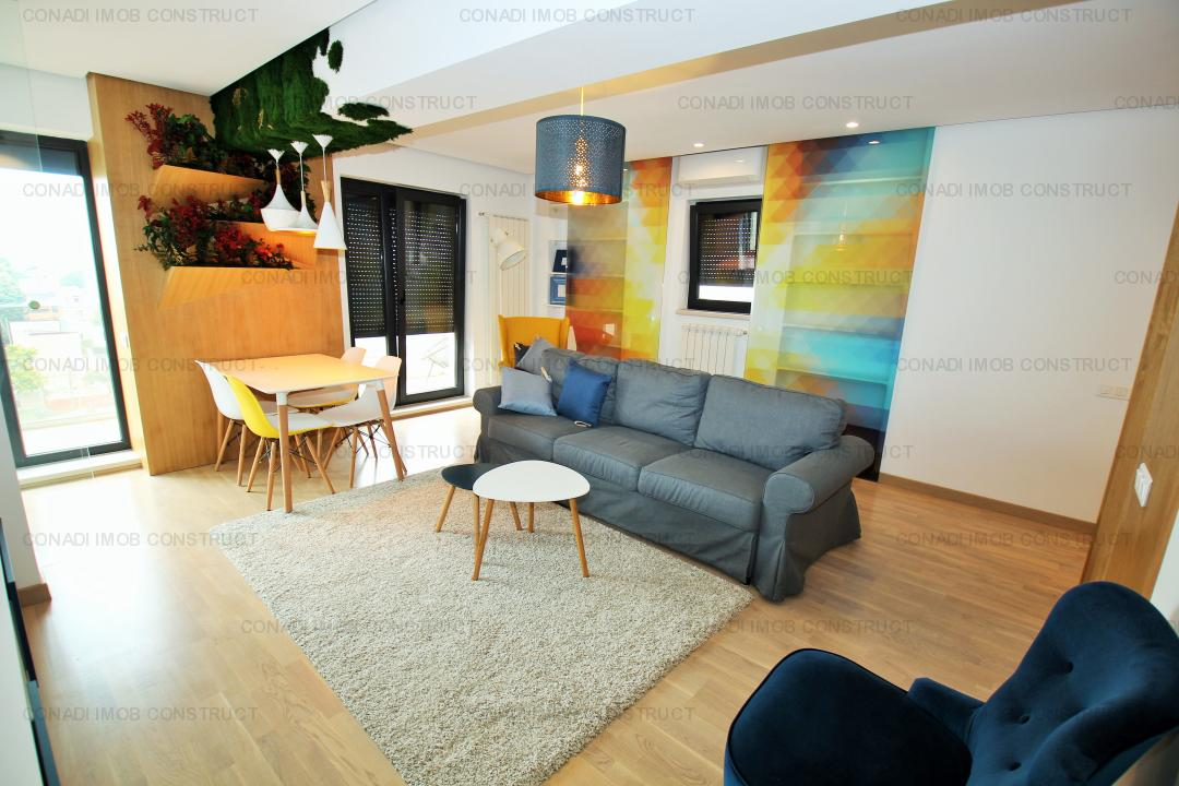 Piata Victoriei - Banu Manta: penthouse 2 camere, imobil nou