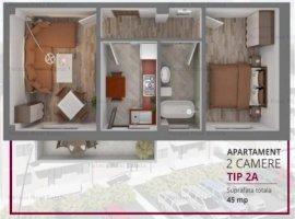 Vanzare  apartament  cu 2 camere  decomandat Iasi, Iasi  - 44000 EURO