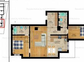 Vanzare  apartament  cu 3 camere  semidecomandat Bucuresti, Calea Calarasilor  - 139300 EURO