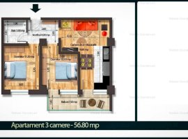 Apartament 3cam  Bragadiru 57mp bloc nou 44000 euro Rate Dezvoltator