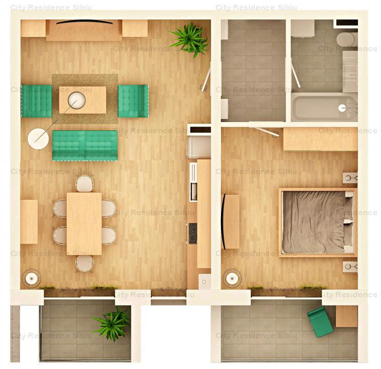 Apartament 2 camere | Arena Village | Etaj 1 | Tip 2