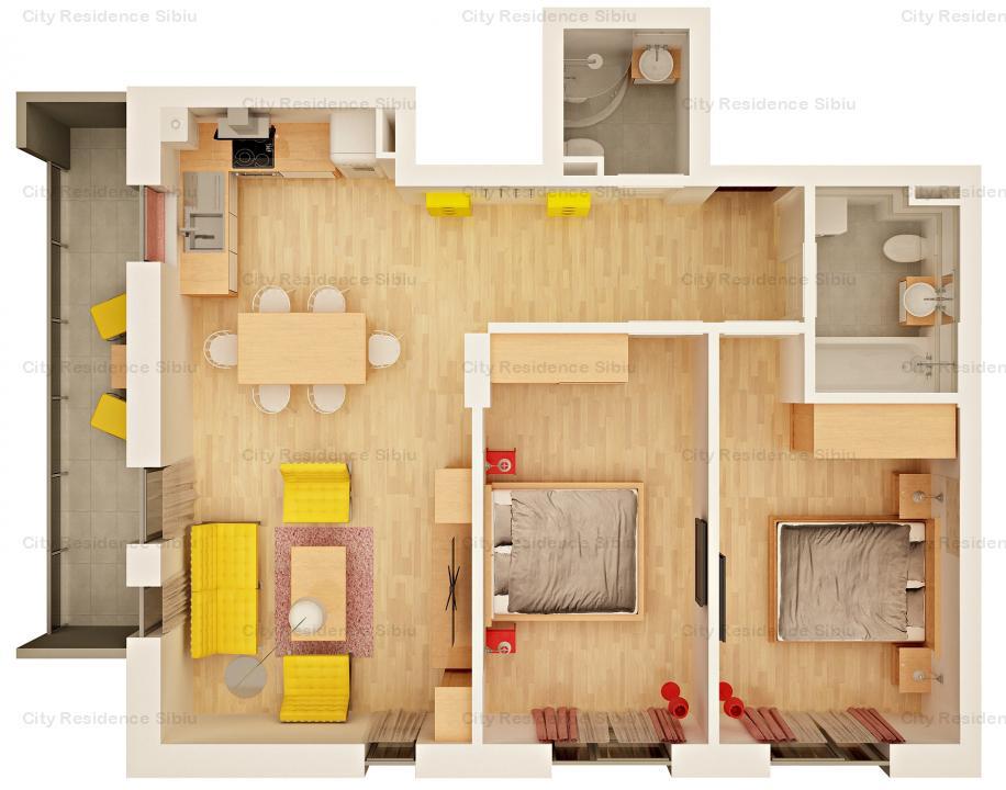 Apartament 3 camere   Predare 2020   1 min de Mall