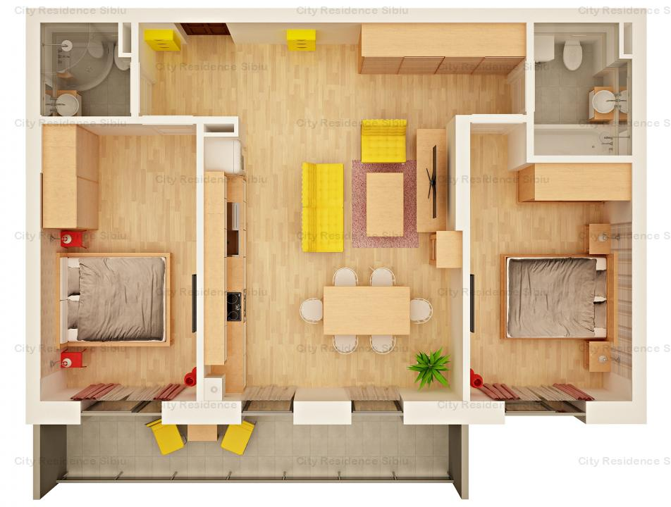 Apartament 3 camere | Predare 2020 | 2 Bai