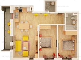 Apartament 3 camere   Tip 6   2 bai   Etaj 1