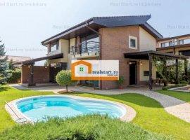 Vila P+1E, complex case securizat, piscina, loc parcare, zona verde