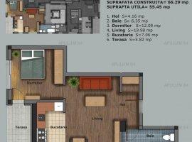 Prelungirea Ghencea, apartament 2 camere, 56mp, etaj 1/5, semidecomandat, bloc nou.