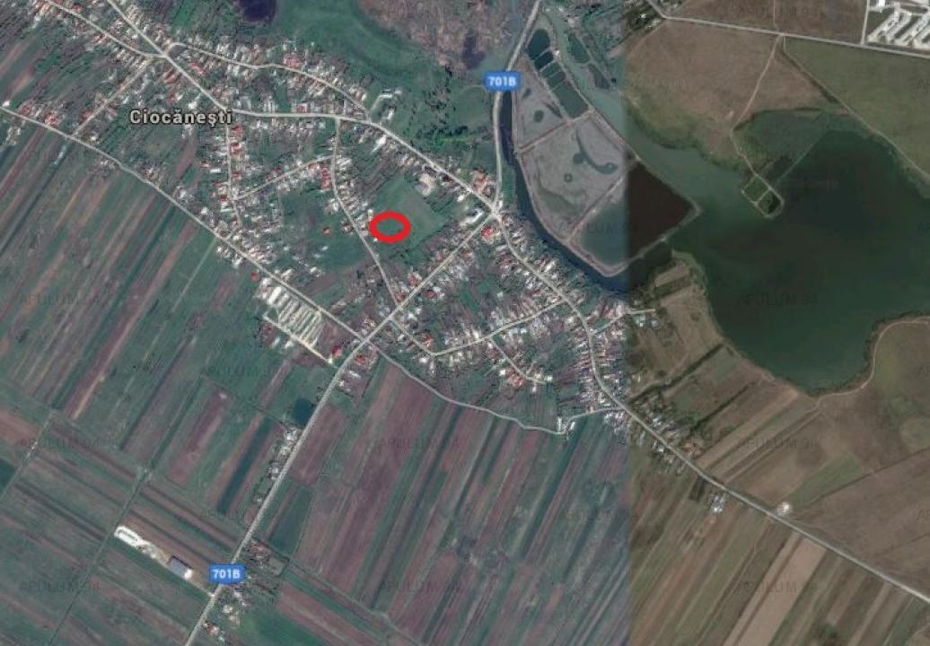 Loc de casă, în Ciocănești, prin Buftea sau Tărtășești