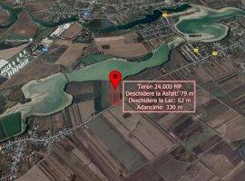 Teren 24.000 Mp in Ciocanesti DB cu deschidere la asfalt si lac