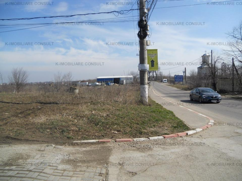 Balotesti str. Florilor teren 400 mp strada asfaltata cu utilitati
