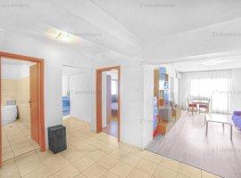 B-dul Unirii, apartament 2 camere, 70 mp, 3 balcoane, etaj 7/9, vedere bulevard