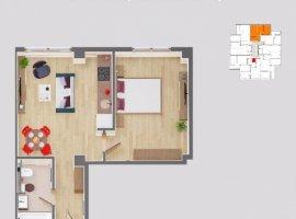 Vanzare  apartament  cu 2 camere  semidecomandat Iasi, Iasi  - 58300 EURO