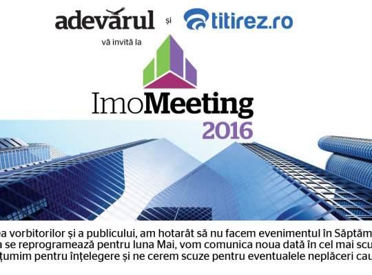 Informare ImoMeeting 2016