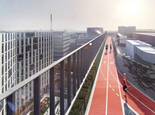 Prima clădire din România cu pistă de alergare pe acoperiş pentru corporatişti