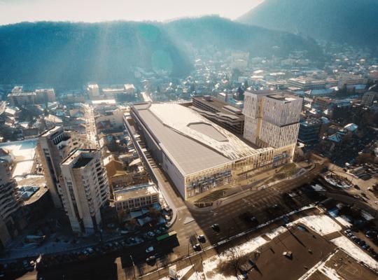 Brasovul va avea, din 2019,  cel mai mare mall central din Romania