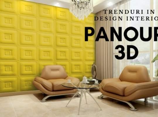 Trenduri in design interior: panouri 3D de perete