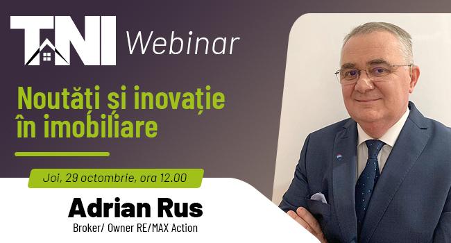 Webinar TNI:  Noutăți și inovație în imobiliare